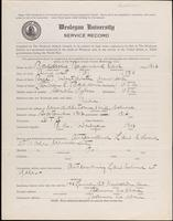 World War I service record for Raymond Earl Baldwin, p. 1