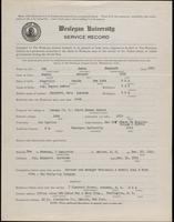 World War I Service Record for Jason Shepherd Joy, p. 1