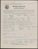 World War I Service Record for Vincent Weaver Jones, p. 1