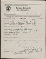 World War I Service Record for Clarence Ketcham, p. 1