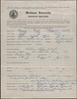 02.006.001 World War I service record for Fred Thompson Laing