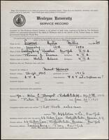 02.006.008 World War I service record for Austin Millis Leavens