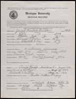 02.006.014 World War I service record for Jacob Kimber LeVan