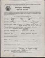 02.006.016 World War I service record for Ralph Morgan Lewis