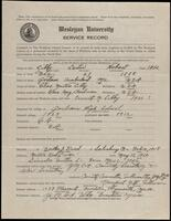 02.006.017 World War I service record for Lester Hobart Libby
