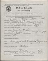 02.006.018 World War I service record for Harry Edwin Lindsey