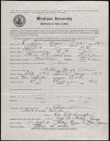 02.006.019 World War I service record for Albert Fred Lindstrom