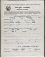 02.006.020 World War I service record for Lloyd Worthington Litchfield
