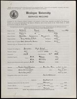 02.006.021 World War I service record for Frank Bowers Littell