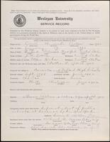 02.006.022 World War I service record for Howard Victor Littell