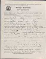02.008.004 World War I service record for Parker Newhall