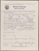 02.008.005 World War I service record for Sidney Merritt Newhall