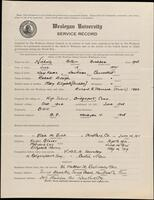 02.008.006 World War I service record for Arthur Buckbee Nicholls