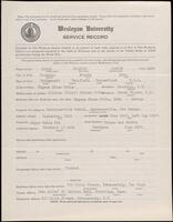 02.008.011 World War I service record for Francis Osborn Noble