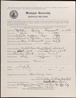 02.008.012 World War I service record for Leroy Beaumont Noble