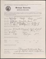02.008.016 World War I service record for Charles Leroy Northridge