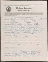 02.008.017 World War I service record for Harold Lewis Norton