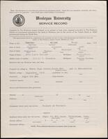 02.008.018 World War I service record for Albert Ernst Nuelsen