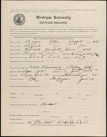 01.002.013 World War I service record for Allen Doggett Bean