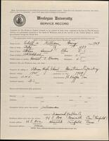 02.009.001 World War I service record for William Henry Odell, Jr.