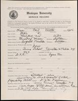 02.009.004 World War I service record for Carl Walter Olson