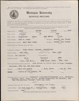 02.009.005 World War I service record for George Wilbur Osmun
