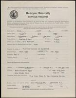 02.005.016 World War I service record for James E. Knox