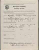 02.005.010 World War I service record for William Francis Kimber, Jr.