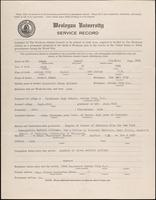 World War I service record for Samuel Franklin Adams, p. 1