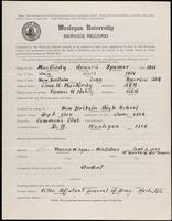 02.007.002 World War I service record for Howard Spencer MacKirdy