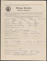 02.007.006 World War I service record for George William Malcomson