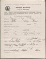 02.007.010 World War I service record for Henry Gordon Manning