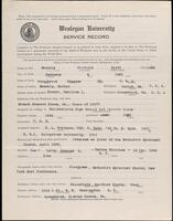 02.007.011 World War I service record for Winfield Scott Manship
