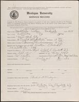 02.007.015 World War I service record for Arthur Frederick Markthaler