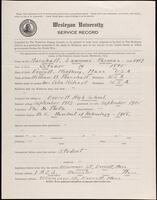 02.007.017 World War I service record for Lawrence Parsons Marshall