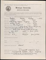 02.007.018 World War I service record for Charles Wesley Martin