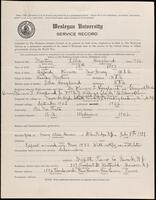 02.007.019 World War I service record for Ellis Hoagland Martin