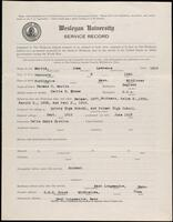 02.007.020 World War I service record for John Lawrence Martin