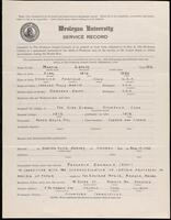02.007.021 World War I service record for Leslie Martin