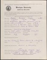 02.007.023 World War I service record for Raymond Lewis Martin