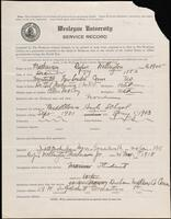 02.007.025 World War I service record for Rufus Wellington Mathewson