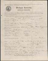 02.007.030 World War I service record for John Walter Maynard