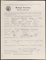 02.007.031 World War I service record for Leonard Amby Maynard