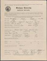 02.007.032 World War I service record for James George McAlpine