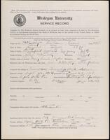 02.007.033 World War I service record for William Wood McCarthy