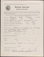 02.007.034 World War I service record for Nevin Gebhart McCloskey