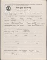 02.007.038 World War I service record for Howard Clifford McElroy