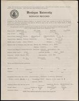 02.007.041 World War I service record for William Dudley McLarren