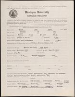 02.007.050 World War I service record for Lynn Smith Miller