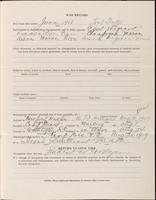 World War I service record for John Randolph Belcher, p. 3